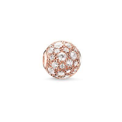 Buy Thomas Sabo Crushed Rose Pave Karma Bead