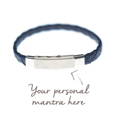 Buy MyMantra myMantra Personalised Men's Bracelet - Navy Blue Leather