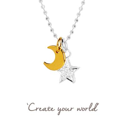 Buy Star and Moon Mantra Necklace