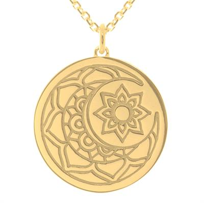Buy MyMantra Yellow Gold Moon and Sun Necklace 80cm