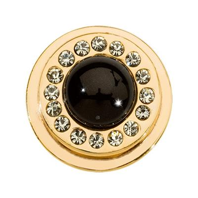 Buy Nikki Lissoni Black Pearl Gold Ring Coin