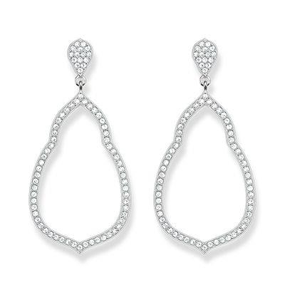 Buy Thomas Sabo Silver Fatima's Garden Oriental Drop Earrings