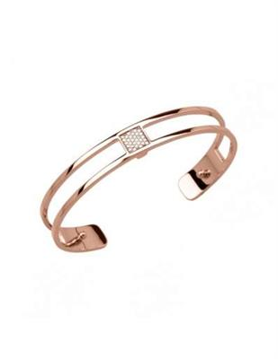 Buy Les Georgettes Thin Rose Gold CZ Barrett Cuff