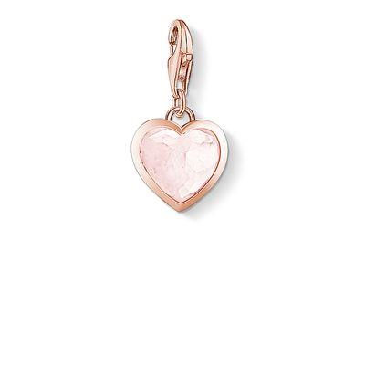 Buy Thomas Sabo Rose Gold Pink CZ Heart Charm