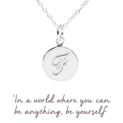 Buy F Mantra Initial Necklace