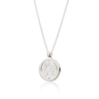 Buy Daisy Sterling Silver Spinning Globe Halo Necklace