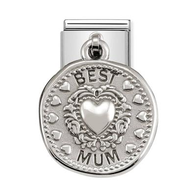 Buy Nomination Silver Hanging Best Mum Charm
