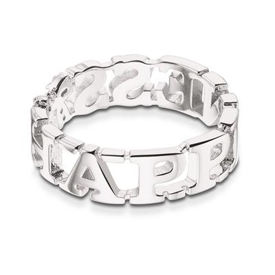 Buy Take What You Need Silver Toned Happiness Ring 58
