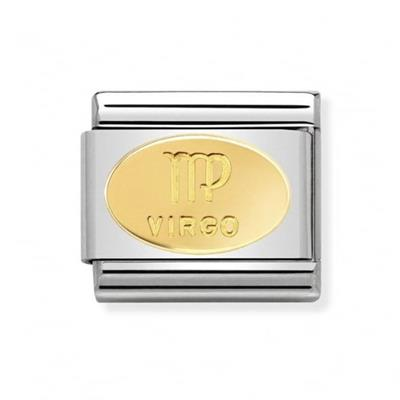 Buy Nomination Gold Virgo Oval Zodiac Charm