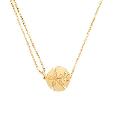 Buy Alex and Ani Sand Dollar Precious Pull Chain Necklace in Gold