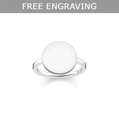 Buy Thomas Sabo Engravable Disc Signet Ring