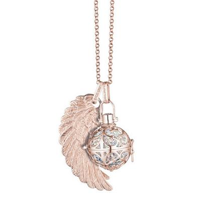 Buy Engelsrufer Rose Gold Angel Whisperer with Sound Ball, Wing and Chain