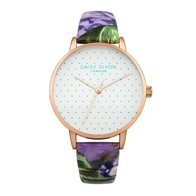 Buy Daisy Dixon Suki Blue Rose Gloss Leather Strap