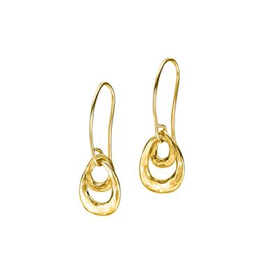 Buy Dower and Hall 18ct Gold Entwined Double Oval Earrings