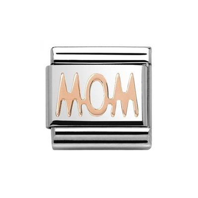 Buy Nomination Rose Gold Mom Plate Charm