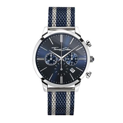Buy Thomas Sabo Rebel Spirit Blue Chrono Watch Stainless Steel