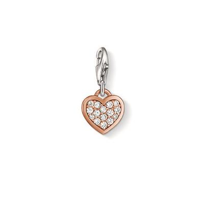 Buy Thomas Sabo Rose Gold Pave Heart Charm