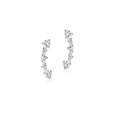 Buy Sif Jakobs Sterling Silver Princess Earrings with CZ