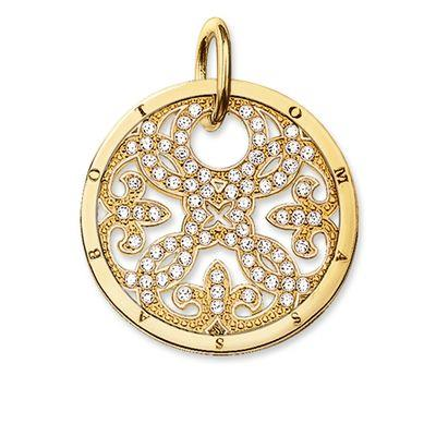 Buy Thomas Sabo Gold CZ Filigree Pendant