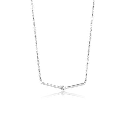 Buy Ania Haie Touch of Sparkle Silver Bar Necklace