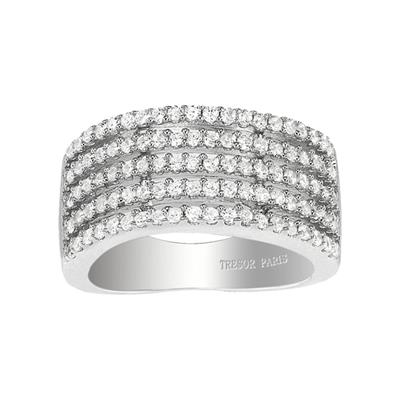Buy Tresor Paris Metric 5 Row Crystal Ring Size N
