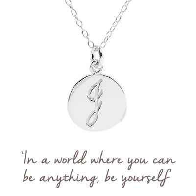 Buy J Mantra Initial Necklace
