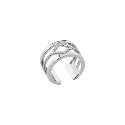 Buy Les Georgettes Silver CZ Losange Ring 56