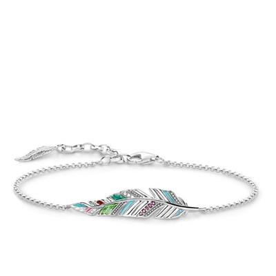 Buy Thomas Sabo Silver Multi-CZ Feather Bracelet
