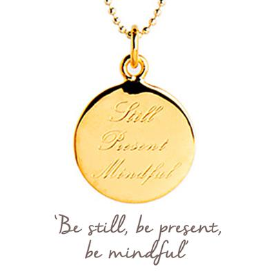 Buy Mantra Still Present Mindful Necklace in Gold