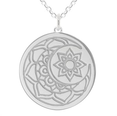 Buy MyMantra Moon and Sun myMantra Necklace in Sterling Silver
