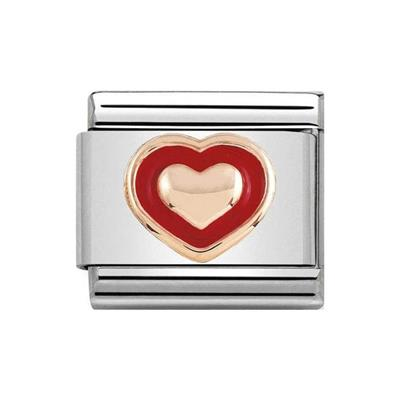 Buy Nomination Rose Gold Red Heart Charm