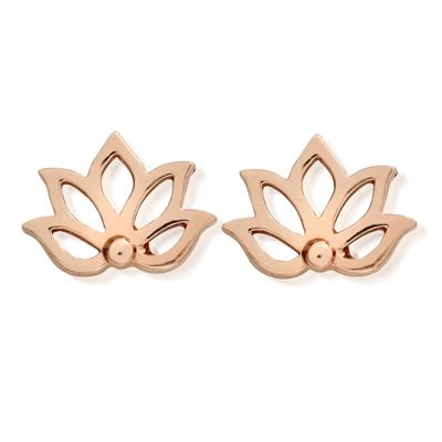 Buy ChloBo Rose Gold Lotus Studs