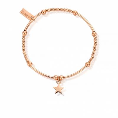 Buy ChloBo Rose Gold Cute Charm Mini Star Bracelet