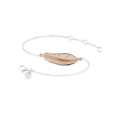 Buy Daisy Rose Gold Feather Bracelet
