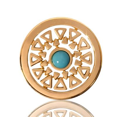 Buy Nikki Lissoni Small Turquoise Inner Beauty Coin