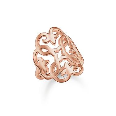 Buy Thomas Sabo Glam & Soul Rose Gold Ornament Ring, 54