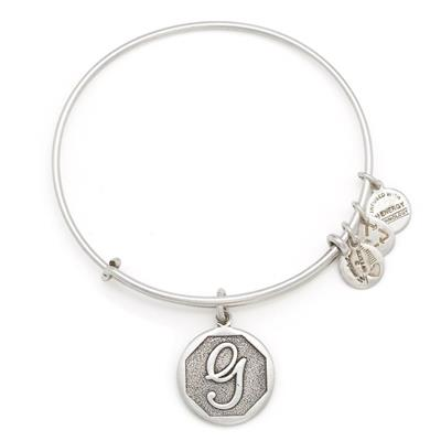 Buy Alex and Ani G Initial Bangle in Rafaelian Silver