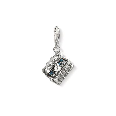 Buy Thomas Sabo Silver Treasure Chest Charm With Blue CZ