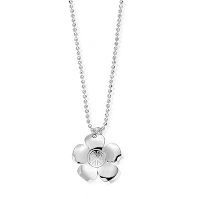 Buy ChloBo Diamond Cut Chain With Peace Flower Pendant