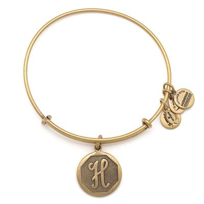 Buy Alex and Ani H Initial Bangle in Rafaelian Gold