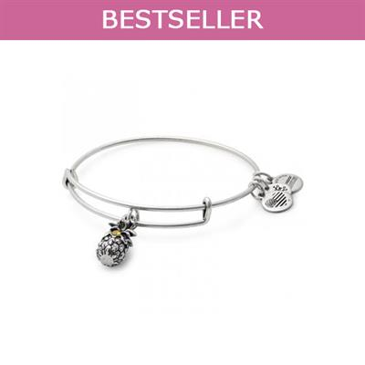 Buy Alex and Ani Pineapple bangle in Rafaelian Silver Finish
