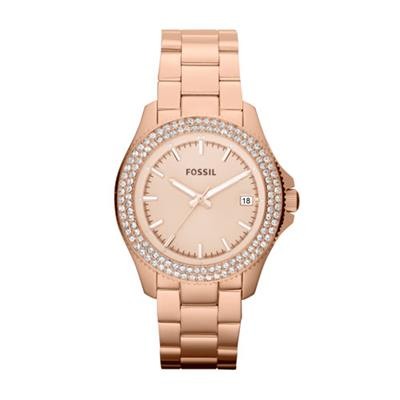 Buy Fossil Retro Traveller Watch Rose Gold