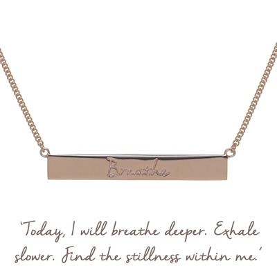 Buy Breathe Bar Mantra Necklace in Rose Gold