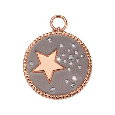 Buy Nikki Lissoni Rose Gold Grey Sky Amulet