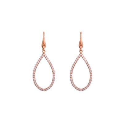 Buy Lily and Rose Kennedy CZ Rose Gold Drop Earrings