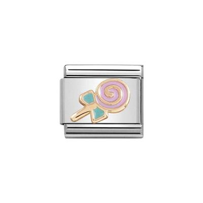 Buy Nomination Rose Gold Enamel Lollypop Charm