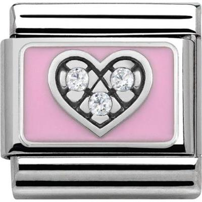 Buy Nomination Silver and Pink Heart Charm