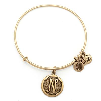 Buy Alex and Ani N Initial Bangle in Rafaelian Gold