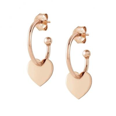 Buy Nomination Rose Gold Melodie Hoop Earrings with Heart
