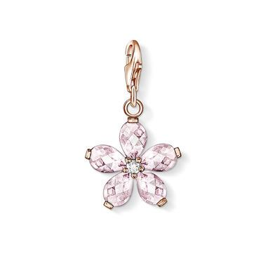 Buy Thomas Sabo Rose Quartz Flower Charm
